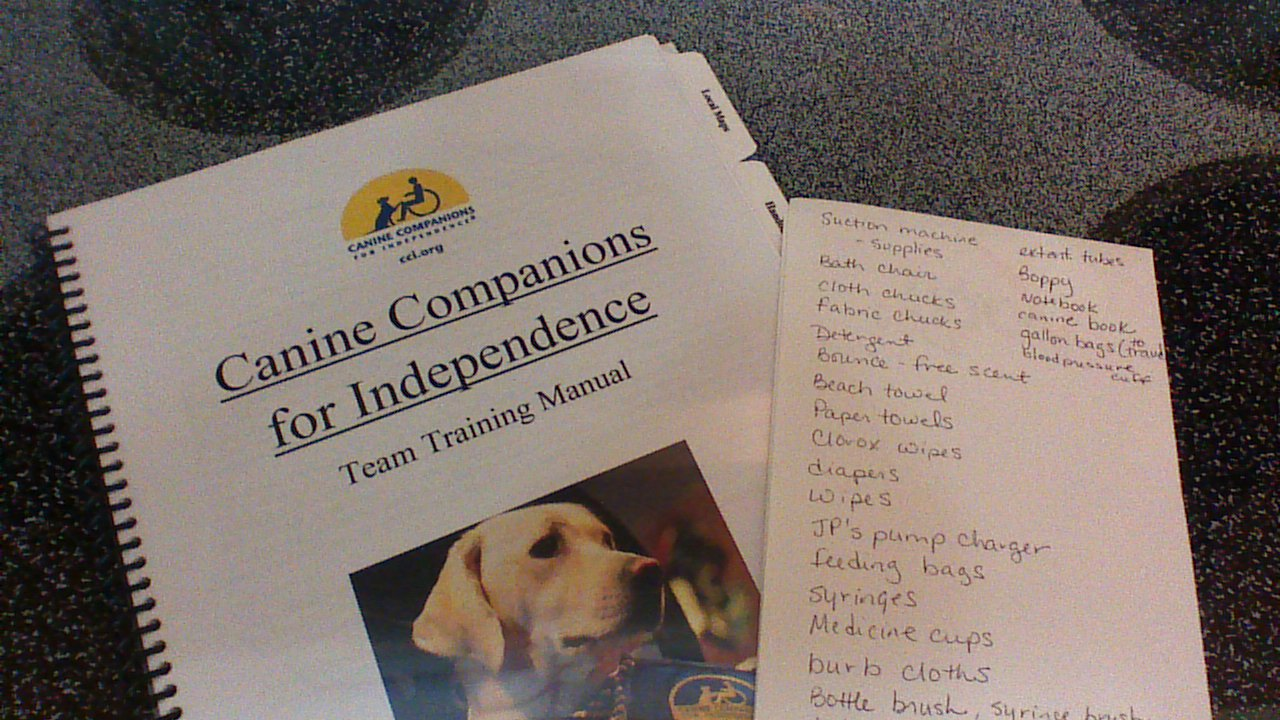 Canine Companions manual and list