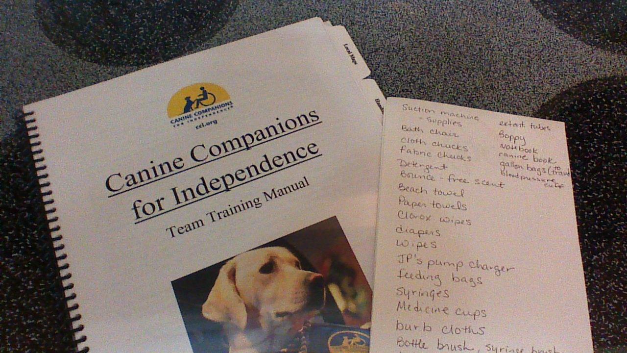 Canine Companions manual and list