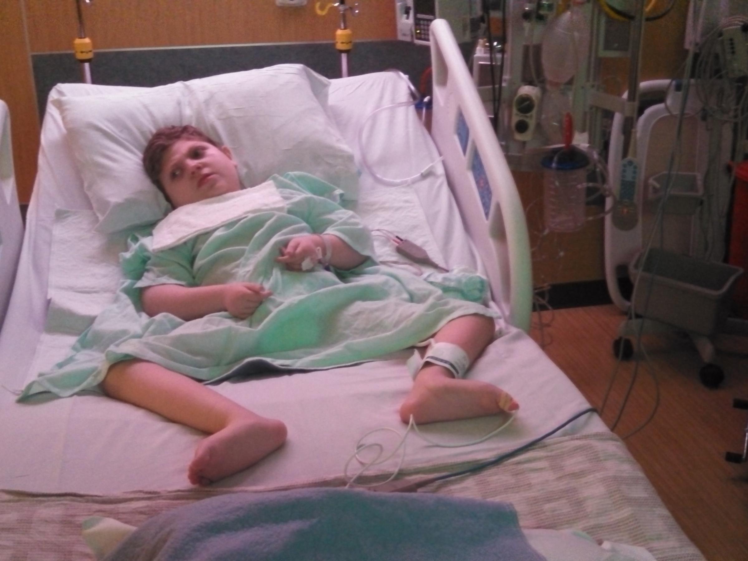 J.P. hospitalized