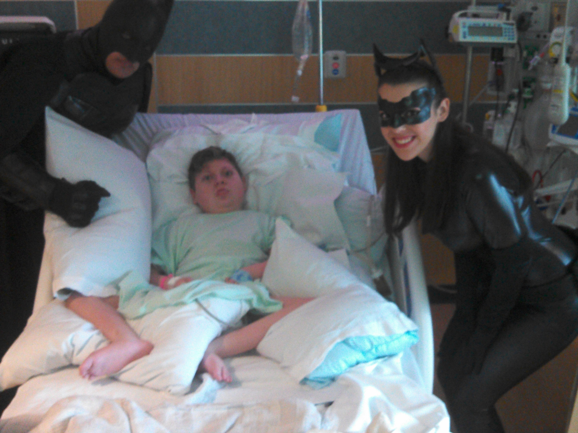 Batman and Catwoman visit J.P.