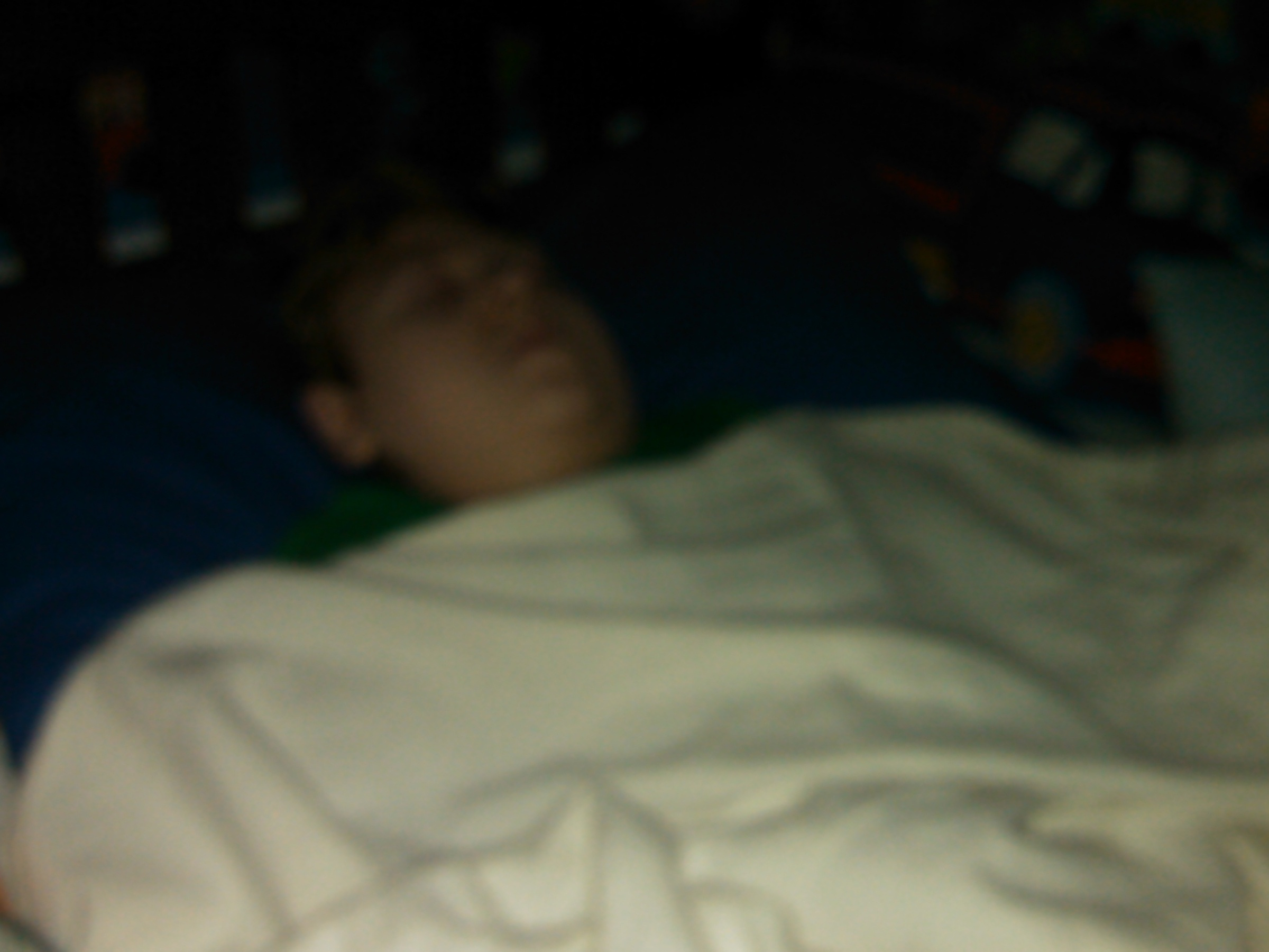 J.P. sleeping