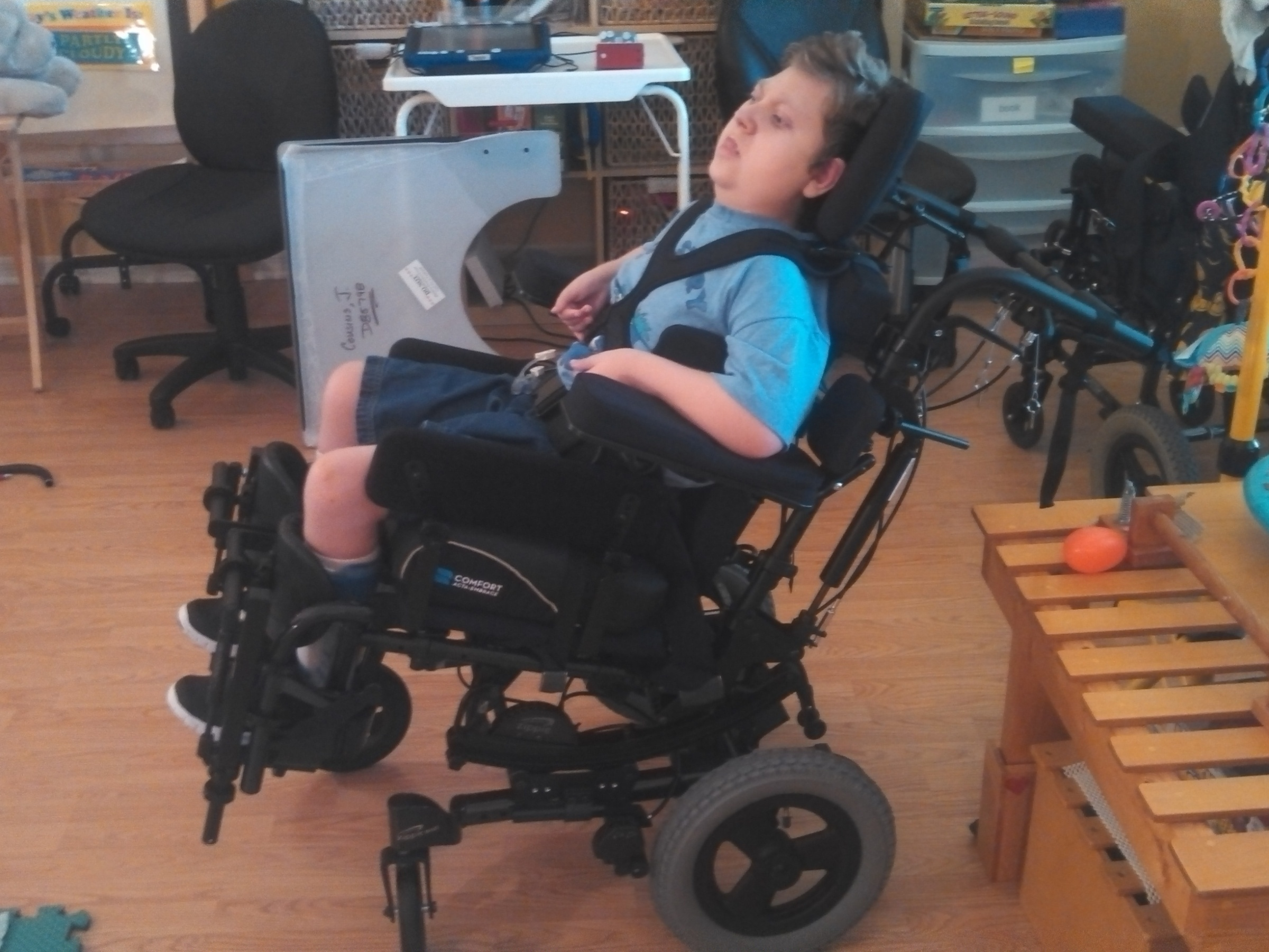 J.P.'s new wheelchair
