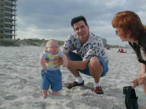 J.P.'s first visit to beach