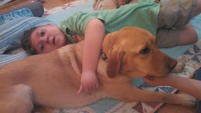 J.P. hugs Karina