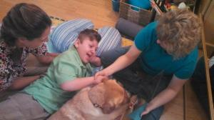 J.P.'s therapy assistant