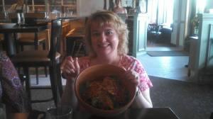 Paige's giant salad bowl